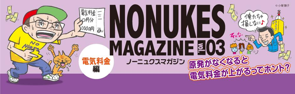 NO NUKES MAGAZINE Vol.3 ! 首都圏反原発連合が発行する無料のリーフレット第3弾!