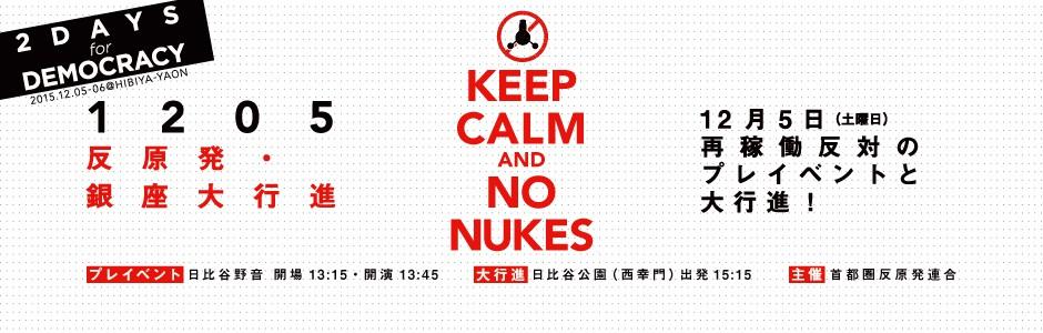 ★KEEP CALM AND NO NUKES 反原発★1205 銀座大行進
